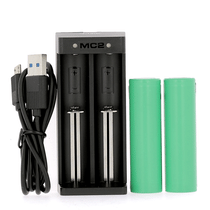 Pack Chargeur Accu Double Samsung 18650 2500mah
