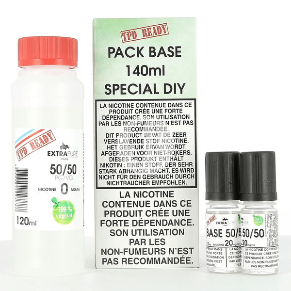Pack DIY 50% PG / 50% VG Extrapure 140ml