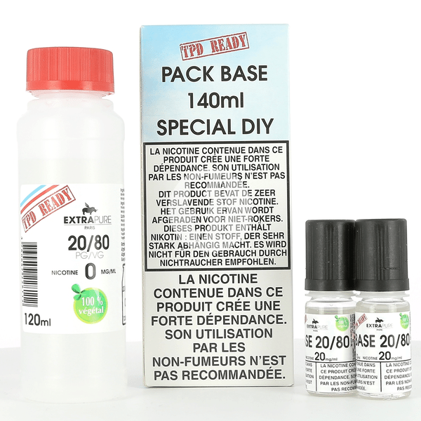 Pack DIY 20% PG / 80% VG Extrapure 140ml