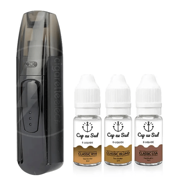 Kit MiniFit Justfog + 3 liquides Cap au Sud 6mg