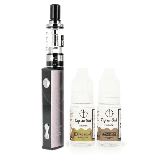 Kit Q16 JustFog + 2 E-liquides Cap au Sud 6mg image 1