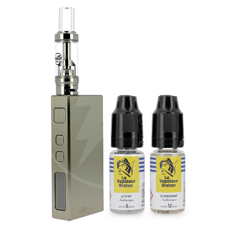 Kit Basal Eleaf + 2 E-liquides Vapoteur Breton 18mg image 1