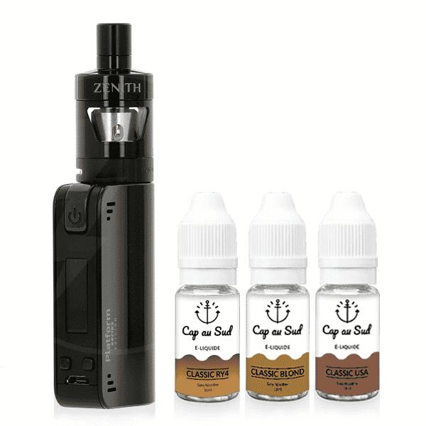Kit Coolfire Mini Zenith + 3 Liquides Cap au Sud
