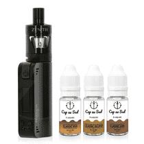 Kit Coolfire Mini Zenith + 3 e-Liquides Classic Cap au Sud 12mg