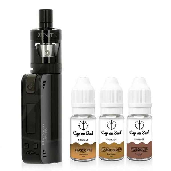 Kit Coolfire Mini Zenith + 3 e-Liquides Cap au Sud 12mg