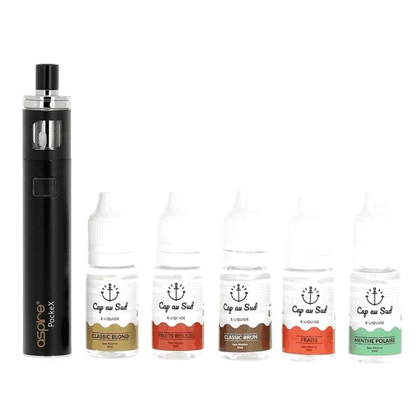 Kit Découverte PockeX + 5 liquides Cap au Sud image 1