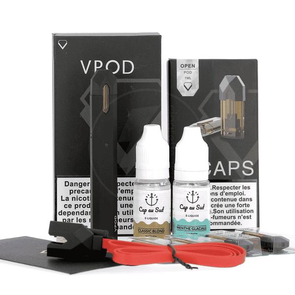 Kit Découverte Vpod Fogware + 2 liquides Cap au Sud