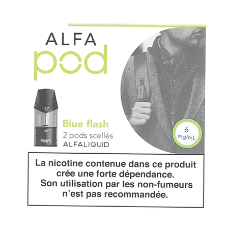 Cartouche Blue Flash Alfapod (x2) Alfaliquid