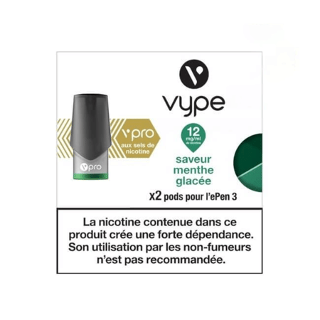 Recharge Vype / Vuse Menthe Glacée - Epen (Sels de nicotine) image 4