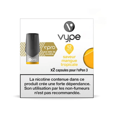 Recharge Vype / Vuse Mangue Tropicale - Epen (Sels de nicotine) image 2