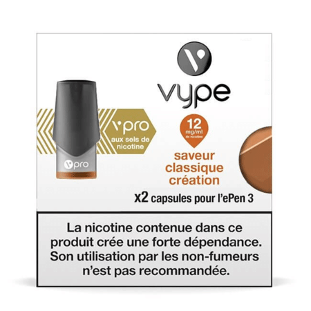Recharge Vype / Vuse Classique Création - Epen (Sels de nicotine) image 2