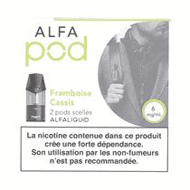 Cartouche Framboise Cassis Alfapod (x2) Alfaliquid