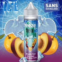 E-Liquide Mirabelle Prune Baies Rouges Ice Tea 50 ml  - Freeze Tea