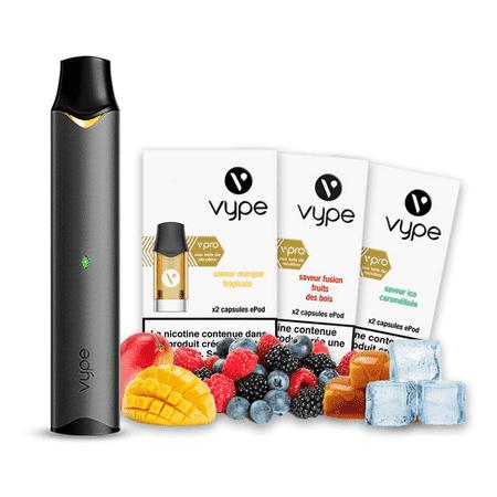 Pack Découverte Vype Epod + 3 saveurs fruitées
