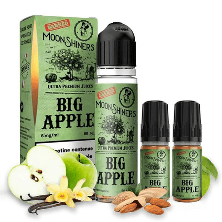 E Liquide Big Apple 50ml (+ 1 ou 2 Boosters de Nicotine) - Moonshiners image 2