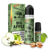E Liquide Big Apple 50ml (+ 1 ou 2 Boosters de Nicotine) - Moonshiners