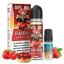 La Crazy tarte aux fraises 60ml (+ 1 Booster de Nicotine) - Guys & Bull X Mukk Mukk